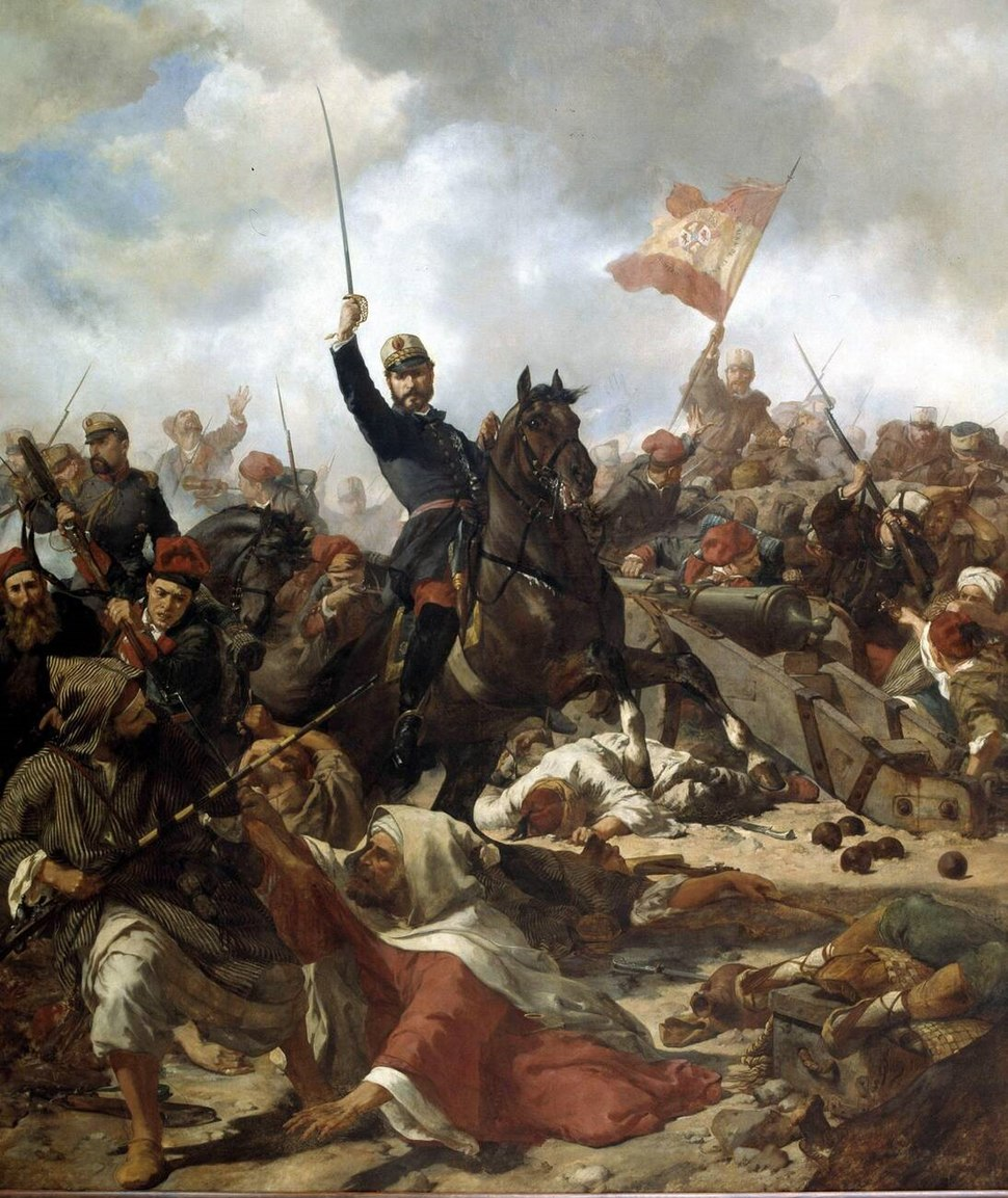 El general Prim en la batalla de Tetuán, por Francisco Sans Cabot