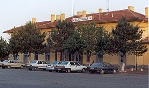 Elazığ railway station - Elazığ station building in June 2001.