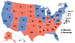 Electoral map, 2012 election