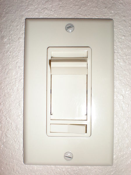 File:Electric residential lighting dimmer switch.JPG