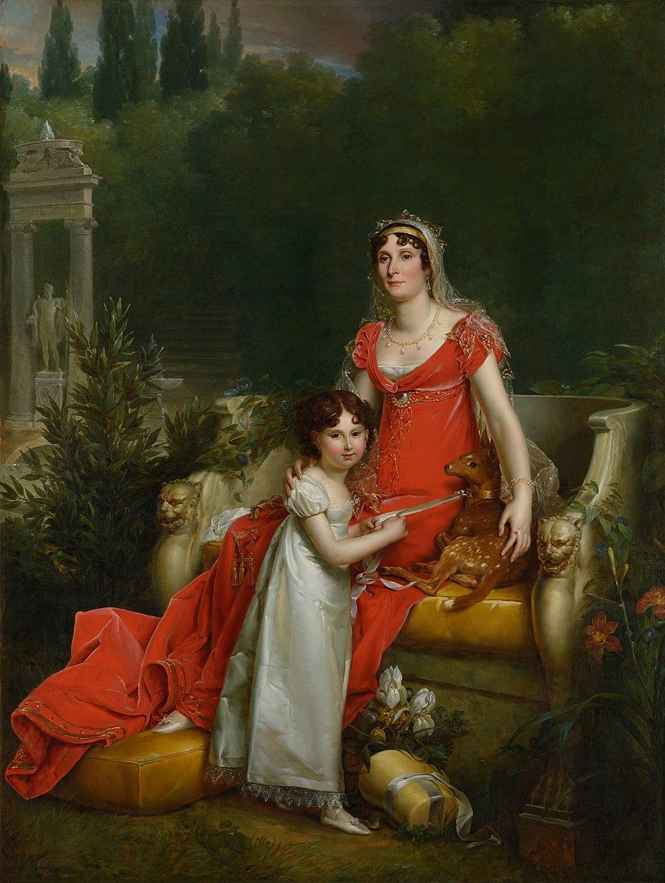 Elisa Bonaparte with her daughter Napoleona Baciocchi - François Gérard - Google Cultural Institute