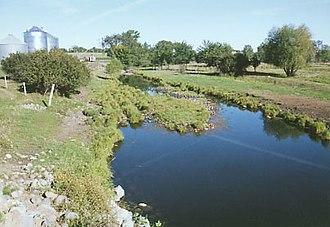 Elk River (Minnesota) - The Elk River in Benton County in 2004