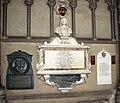 Ely Cathedral - memorials in choir aisle - geograph.org.uk - 2168384.jpg