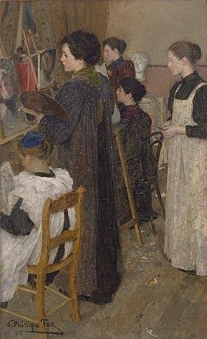 E. Phillips Fox - Art Students (1895)