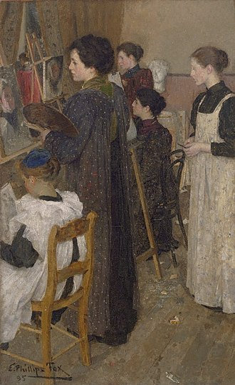 E. Phillips Fox - Art Students (1895)