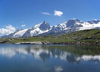 La Grave - La Meije seen from the Lac Noir