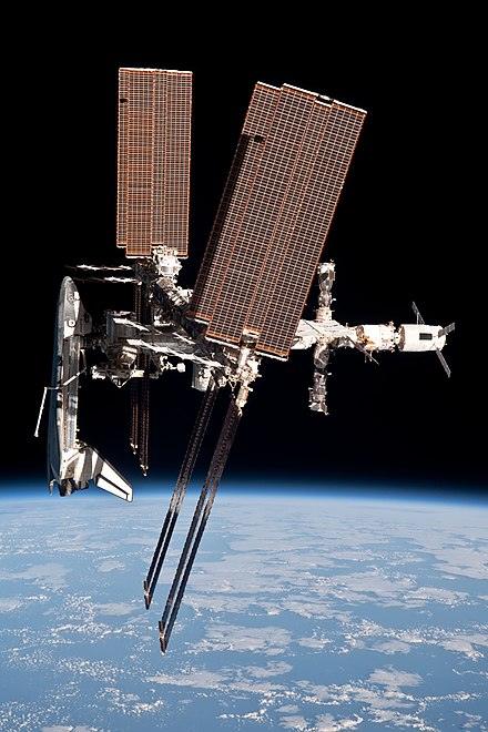 Endeavour docked at ISS Endeavour docked to ISS.jpg