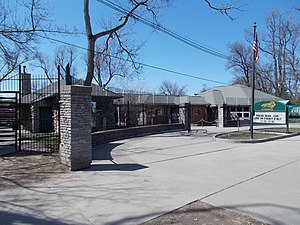 Buffalo Zoo - Former zoo entrance on Parkside Ave (new entrance, opened in 2013, is directly off the zoo's parking lot)