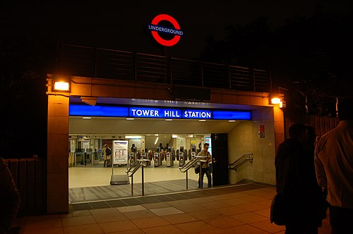 Entrance to Tower Hill tube station