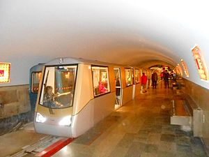 New Athos Cave Railway - New Athos subway train, built in Moscow.