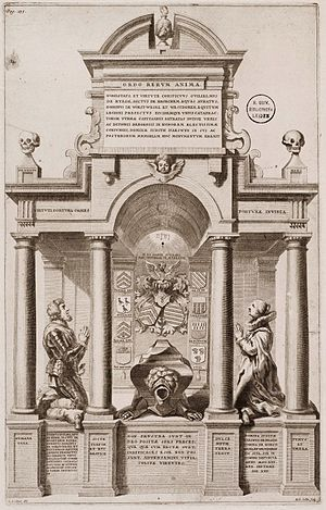 Richard Collin - Engraving by  Richard Collin after a design by Erasmus Quellinus II of the Tomb of Willem van der Rijt and Judith van Aeswyn, 1641, Sint-Gertrudiskerk, Bergen op Zoom