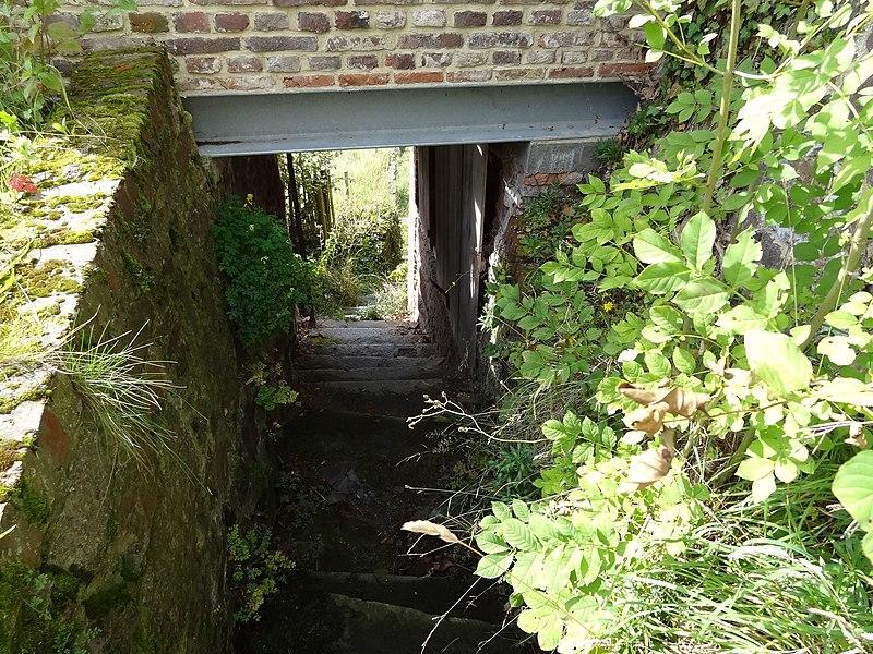 Escalierdansles ruine du jardin surpandu athuin