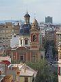 Església de sant Sebastià des de les torres de Quart, València.JPG