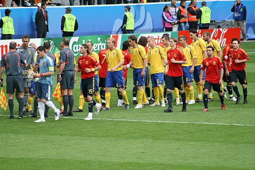 Sweden and Spain meet in UEFA Euro 2008 Group D.