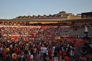 Bullring of Toledo - View of the bullfighting arena