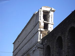 Porta Maggiore - Cross section of Porta Maggiore showing two aqueducts.
