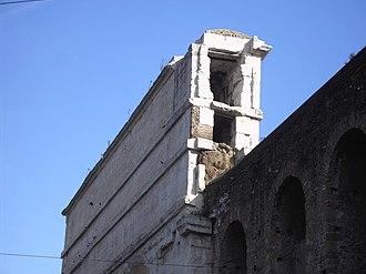 Porta Maggiore - Cross section of Porta Maggiore showing two aqueducts.