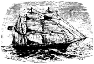Moravian Church Mission Ships - Image: Etching of Moravian Mission Ship Harmony number 4 c 1888
