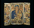 Ethiopian - Triptych Center Panel with Mary and Her Son and Christ Teaching the Apostles - Walters 367 - Open.jpg