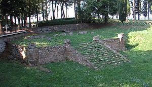 Ruinas de un templo en Volsinies (Orvieto).