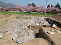 Excavations of temple of Teramoto 2011-Apr.JPG