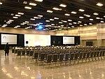 Exhibit hall in Utah Valley Convention Center atrium, Jan 16.jpg
