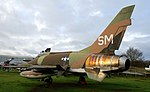 F-100 Super Sabre, Midland Air Museum. (24013943247).jpg