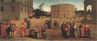 Joseph présentant son père et ses frères à Pharaon