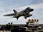 F4D-1 of VMF-115 landing on USS Hancock (CVA-19) c1960.jpg