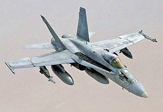 McDonnell Douglas F/A-18 Hornet - A U.S. Navy F/A-18C in flight