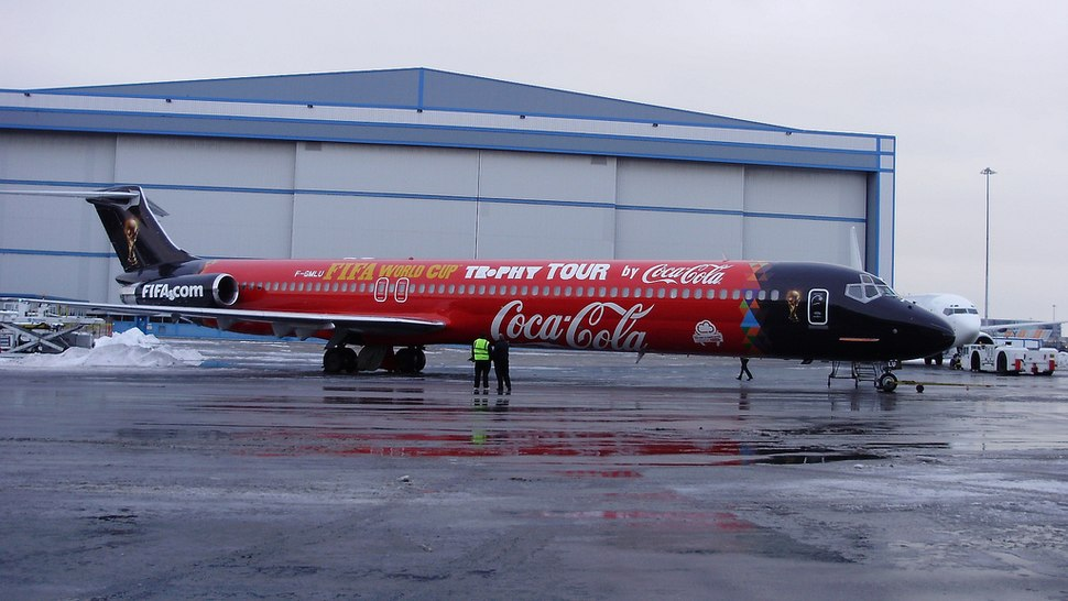 FIFA World Cup Trophy Tour Coca-Cola aeroplane