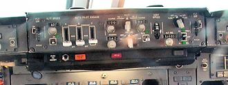Autopilot - The autopilot control panel of a Boeing 747-200 aircraft