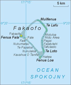 Fakaofo - Image: Fakaofo map