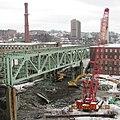 Fall River- Davol Street bridge demolition looking south from Braga Bridge (13250419753).jpg