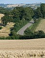 Farmland and Lane - geograph.org.uk - 522426.jpg