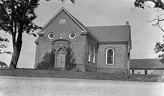 Skirmish at Farnham Church - North Farnham Church, site of the battle