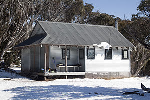 Mount Feathertop - Federation Hut after an early May snowfall