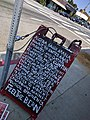 Feel the Bern sandwich board, Sunset Junction, Silverlake, Los Angeles, California (26950063861).jpg