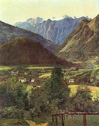Hoher Dachstein - Painting of Dachstein by Ferdinand Georg Waldmüller (1835)