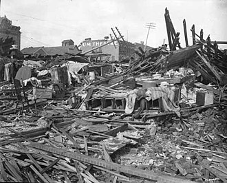 Fergus Falls, Minnesota - Fergus Falls after the 1919 tornado