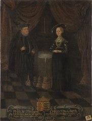 Filip, 1504-1567,  lantgreve av Hessen-Kassel. Kristina, 1505-1549, prinsessa av Sachsen
