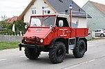 Unimog 411.110 als Einsatzfahrzeug der Feuerwehr der Stadt Gmünd in Niederösterreich