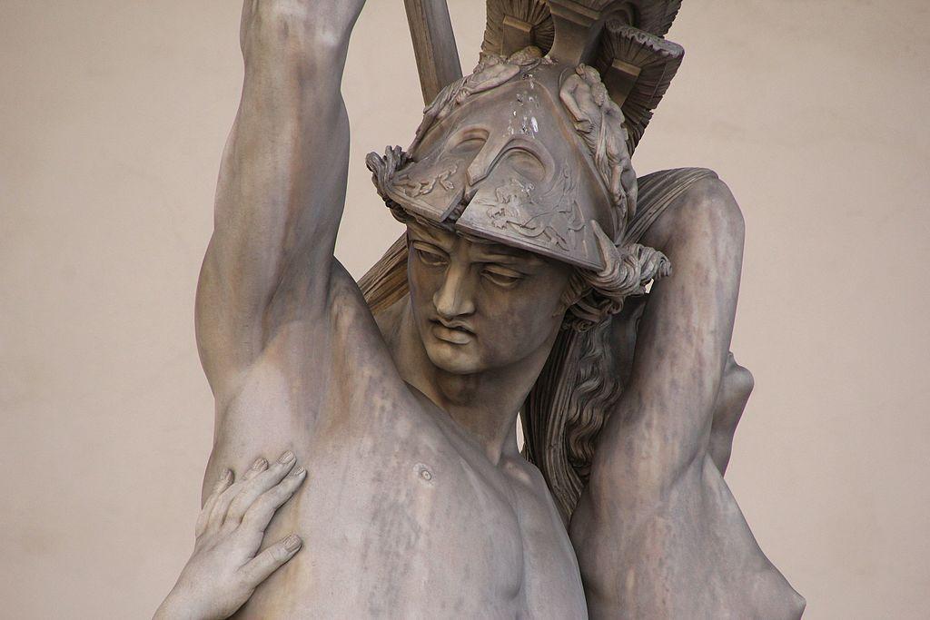 Pio Fedi, Neottolemo rapisce Polissena da Ecuba (particolare), 1855-1865, Loggia dei Lanzi, Piazza della Signoria, Firenze