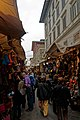 Firenze - Florence - Via dell'Ariento - View NNW towards Mercato Centrale 1874 by Giuseppe Mengoni.jpg