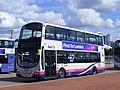 First West Yorkshire Shuttle bus, Greenwich peninsula SE10 37734 YJ09 DCF (7721548738).jpg