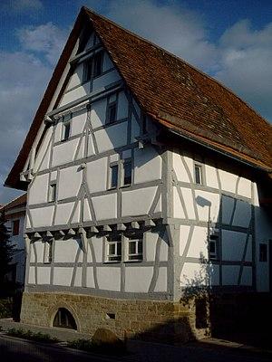 Ridge-post framing - A Firstständerhaus in Zeutern, Baden