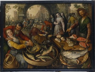 Fish Market with Ecce Homo