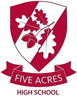 Five Acres High School Academy in Five Acres, Coleford, Gloucestershire, England