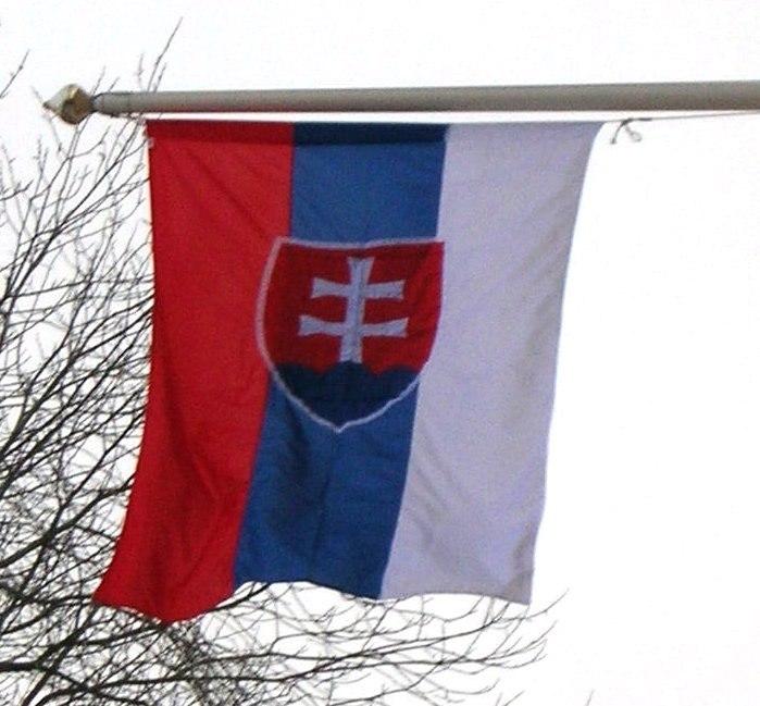 Flag of Slovakia vertical (gabbe)