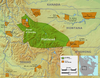Location of Flathead Indian Reservation and territory, Montana